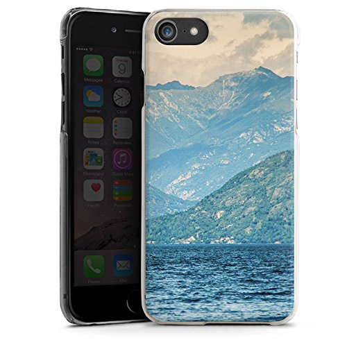 Apple iPhone X Silikon Hülle Case Schutzhülle Berglandschaft Berge See Hard Case transparent