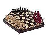 ChessEbook Schachspiel für Drei, 40 x 35 cm, Holz