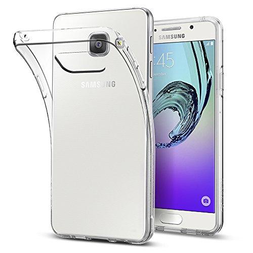 Spigen 564CS20769 Liquid Crystal für Samsung Galaxy A3 2016 Hülle Silikon Transparent Durchsichtige Schutzhülle Case - Crystal Clear
