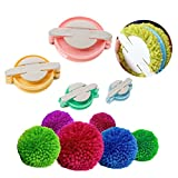 Homdsim 4tailles Pompon Pompon Maker pour Fluff Boule Weaver Aiguille Craft DIY Laine à tricoter Craft Outil de décoration