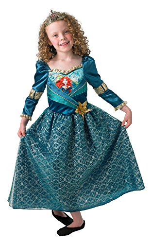 Merida Shimmer Princess Brave Disney Kinder Fancy Kleid Mädchen Kinder Kostüm (Merida Disney Kostüm)