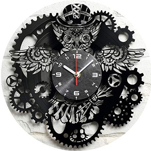 Disco De Vinilo Reloj De Pared Personalidad Reloj De Cuarzo Reloj Creativo NostáLgico Steampunk BúHo Engranaje Reloj Colgando Mesa