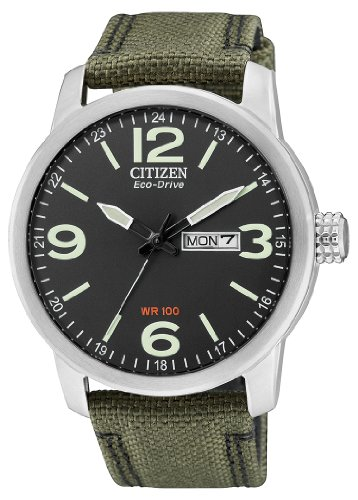 Citizen Herren-Armbanduhr Analog Quarz Nylon BM8470-11EE