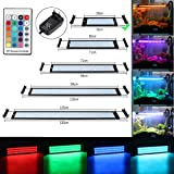 GreenSun LED Lighting 6W RGB LED Aquarium Beleuchtung Aufsetzleuchte Aquarium Lampe Aquariumleuchte Einstellbar für 28-48cm Aquarium