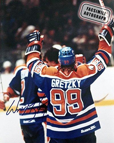 Generic Facsimile Autographed Wayne Gretzky Celebration - Edmonton Oilers -