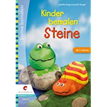 Kinder bemalen Steine