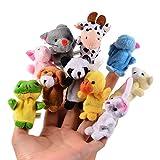 ThinkMax 10 Stück Fingerpuppen, Samt Baby Story Zeit Requisiten, weiche pädagogische Handpuppe Set Puppen Spielzeug für Baby und Kleinkinder - ThinkMax
