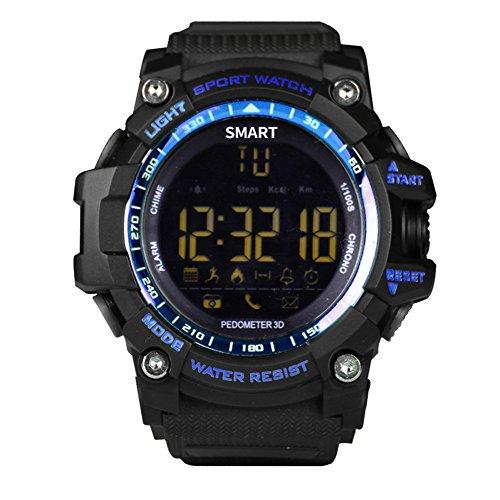 Bluetooth Smart Watch V8Full Circular Bildschirm Smartwatch Armband unterstützt SIM-Karte und TF für Apple iOS Android Handy Blue EX16 Sport Mp4 Watch Player