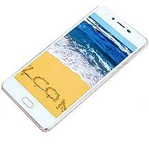 moviles baratos 4g, Smartphone moviles libres de Dual SIM Dual Camara, 5.0 Pantalla, Android 5.1, Octa-Core 4G/GSM, Cámara trasera 2.0MP con flash LED doble, cámara frontal 0.3MP, Oro Rosa