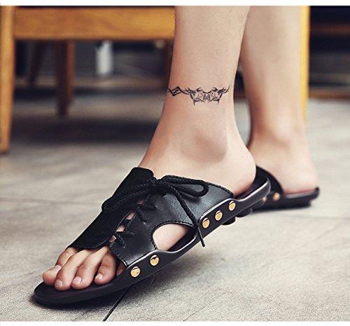 Sandales Sandales Pour Hommes Pantoufles Chaussures échassiers En Plein Air Black