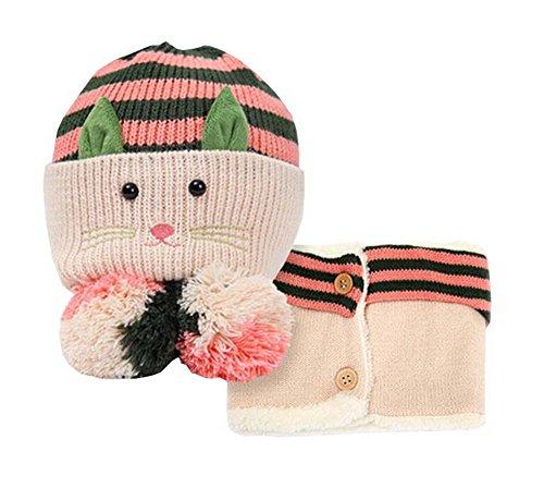 e und Schal Nützliche nette Woll Baby Hat Set Beige ()