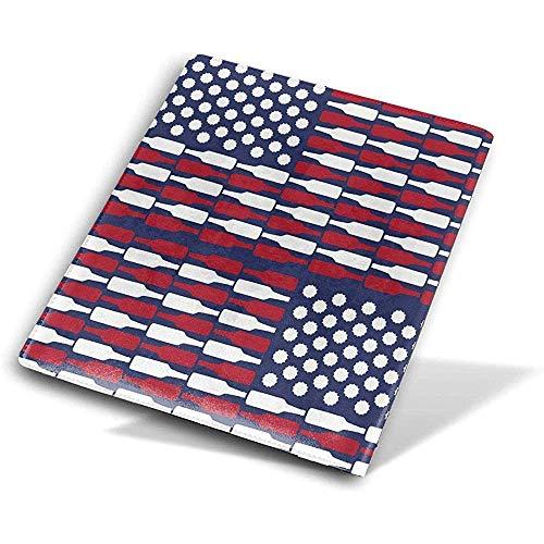 Uns flagge patten buchumschläge buch protektoren wiederverwendbare buch hülle wasserdicht schulmaterial 9x11 zoll -