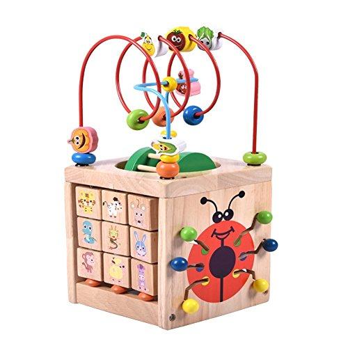 PovKeever Juguete multifuncional Cubo para niños Juegos educativos Centro de Actividades Baby Juguete Educativo Regalo ideal para bebés 1-2 años