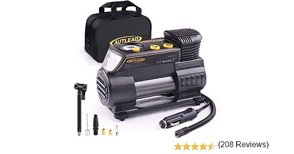 Gonfiatore per pneumatici digitale luce a LED pompa per pneumatici con compressore daria 12V 120W 150PSI con flusso daria pi/ù ampio 40L // min 3 adattatori per valvole diverse per auto // moto