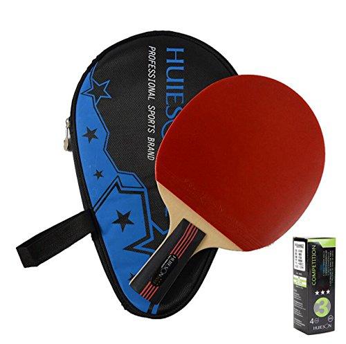 LANFIRE(huieson) 4Star Tisch Tennisschläger pimples-in Gummi Tischtennisschläger PING Pong Paddel mit Tasche - Tennisschläger Gummi