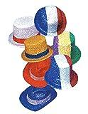 Ciao - Set 5 Cappelli Colorati a Cilindro, Bombetta Glitter, Soggetti e Colori Assortiti