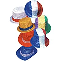 Hello–5of September Coloured Top Hats, Bowler Glitter, Themes and Assorted Colours - Compare prices and find best deal online