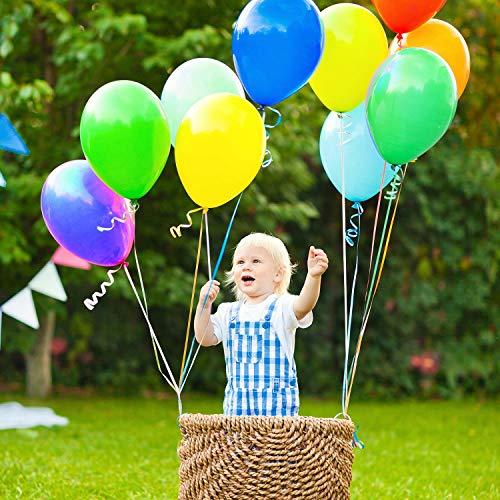 AYUTOY 100pcs Globos de látex Globos de Fiesta de Colores Diversos con Bomba Manual para Bodas, Fiestas de Cumpleaños