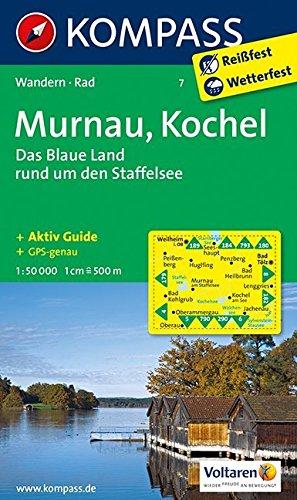 Murnau - Kochel - Das blaue Land rund um den Staffelsee 1 : 50 000: Wanderkarte mit Aktiv Guide und Radwegen. GPS-genau