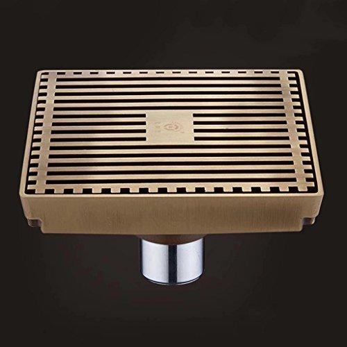 Drain de plancher en cuivre Système de drainage déodorant 15 * 15cm
