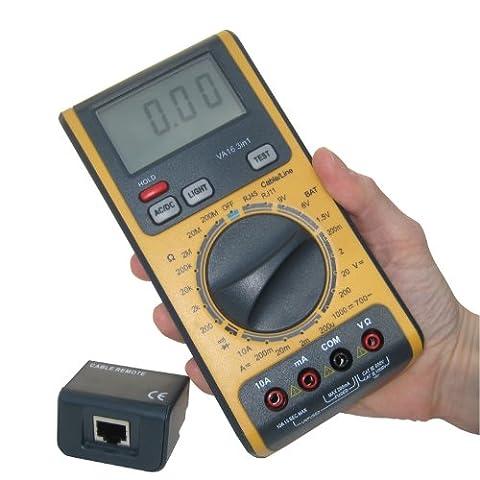 Multimètre numérique automatique Testeur de câble réseau