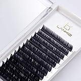 Wimpern LK LANKIZ Wimpern Einzeln D Curl 0,15mm Flach Einzelne Wimpern Gemischt Tablett Künstliche Wimpern für Wimpern Verlängerung