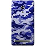 Bloody Branded Back Case For Asus Zenfone 6 | Asus Zenfone 6 Back Cover | Asus Zenfone 6 Back Case - Printed Designer Hard Plastic Case - Camouflage Theme(Royel Blue)