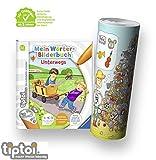 Collectix Ravensburger tiptoi Einsteiger Buch ab 3 Jahre | Mein Wörter-Bilderbuch: Unterwegs + Kinder Wimmel Such-Bild Poster