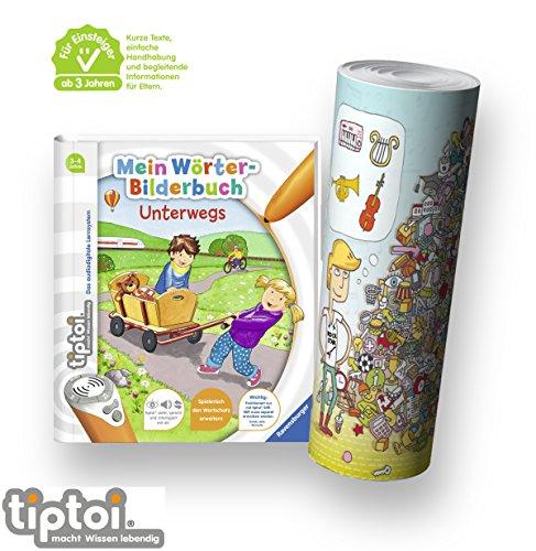 Ravensburger-tiptoi-Einsteiger-Buch-ab-3-Jahre-Mein-Wrter-Bilderbuch-Unterwegs-Kinder-Wimmel-Such-Bild-Poster