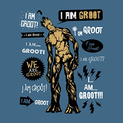 Famous Groot Quotes Guardians Of The Galaxy Women's T-Shirt Indigo Blue