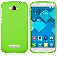 TBOC® Funda de Gel TPU Verde para Alcatel One Touch Pop C7 de Silicona Ultrafina y Flexible