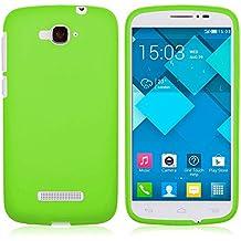 TBOC Funda de Gel TPU Verde para Alcatel One Touch Pop C7 de Silicona Ultrafina y Flexible