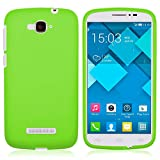 TBOC Funda de Gel TPU Verde para Alcatel One Touch Pop C7 de Silicona Ultrafina y Flexible