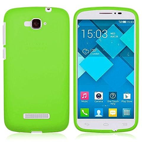 TBOC® Grün Gel TPU Hülle für Alcatel One Touch Pop C7 Ultradünn Flexibel Silikonhülle
