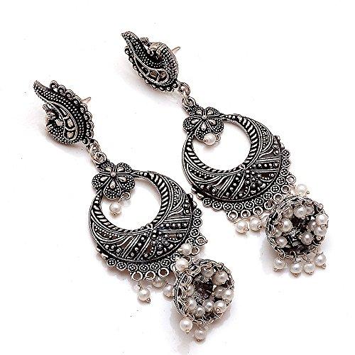 Jewar Oxidised Plated Handmade Jhumka Jhumki chandbali Earrings Gift For Her, Girl, Women, Mother, Sister, Girlfriend, Party, Daily Wear