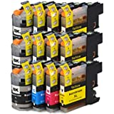 12 ECS Compatible Ink Cartridges Replace LC-123 for Brother DCP-J132W DCP-J152W DCP-J552DW MFC-J650DW DCP-J752DW DCP-J4110DW MFC-J870DW MFC-J4410DW MFC-J4510DW MFC-J4610DW MFC-J4710DW MFC-J470DW