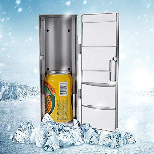 GOTOTOP Compacto Mini USB Multifuncional 2 en 1 Refrigerador Congelador Enfriador Calentador...
