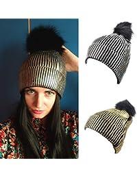 Cappello Lavorato A Maglia da Donna alla Moda Cappello da Donna Caldo  Berretto in Velluto A e67f6e387818