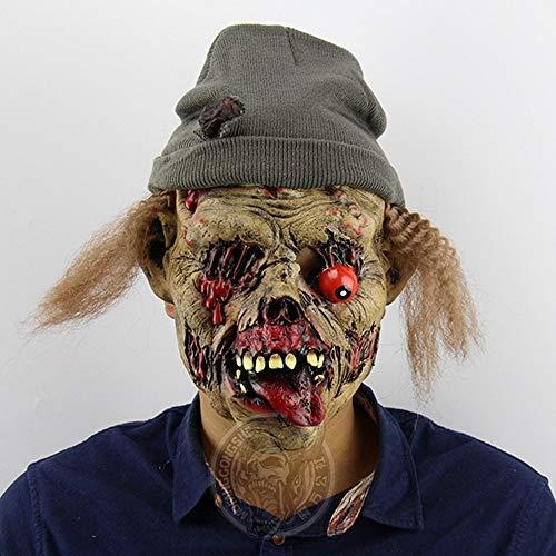 Mit Kostüm Kürbis Kopf Vogelscheuche - JNKDSGF HorrormaskeHalloween Maske Kürbis Vogelscheuche Latex Party Halloween Kostüm Maske Cosplay-Bild Farbe
