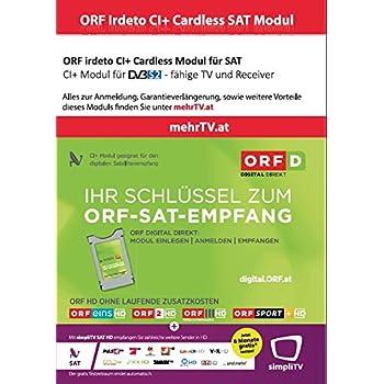 orf entschlüsseln ohne karte ORF DIGITAL DIREKT irdeto CI+ Modul Dual: Amazon.de: Elektronik