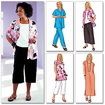 Butterick Ladies Plus Size Sewing Pattern 3039 Tops Dress Skirt
