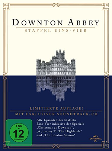 Downton Abbey - Season 1-4 (Digipack, 16 Discs inkl. exklusiver Soundtrack-CD) [Limited Edition]