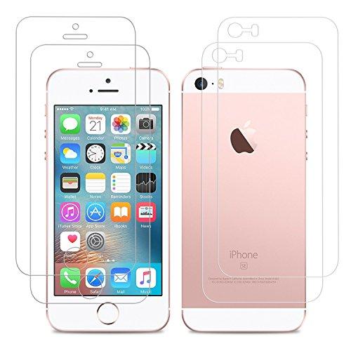 iPhone SE schutzfolie, Danibos 2 x VORDERseite & 2 x RÜCKseite Displayschutzfolie iPhone SE Folie deckt gesamte Front & Edges ab (iPhone SE)