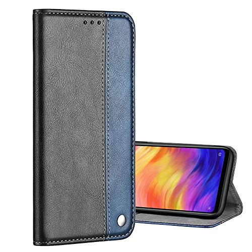 Nadoli Leder Hülle für Galaxy S7 Edge,Einfarbig Spleißen Entwurf Retro Edel Premium Stand Feature Kartenfächer Magnet Flip Brieftasche Schutzhülle Etui Schale für Samsung Galaxy S7 Edge