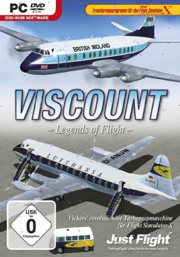 Flight Simulator X - Viscount Legends of Flight (Add-On) (Hat Luftfahrt Die)