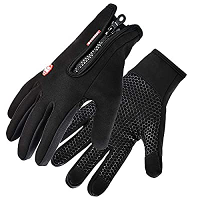 Kungber Touchscreen Handschuhe, Winter Outdoor Sport Fahrradhandschuhe Radfahren Handschuhe Laufhandschuhe, Wasserdicht und Winddicht Ajustable Größe für Damen Herren von Kungber - Outdoor Shop