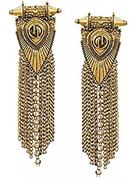 BeJeweled By BeJeweled By Pipa Bella Trendy Jewelry Collection Antique Finish Gold Fully Metal Fringe Statement...