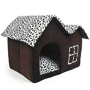 Ohyou haut de gamme lait vache Style animal chat chien maison chenil chien chambre de luxe - Brown