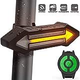GWJ Bike Rücklicht Hinten mit Blinker 500 Lumen, Kabellose Fernbedienung Smart-Wasserdicht USB Wiederaufladbare- Fahrrad Rücklicht LED Licht Für Mountainbike, BMX Fahrrad, Rennrad
