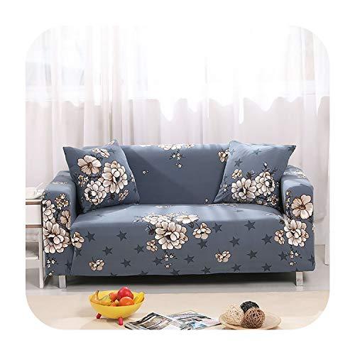 Agust D Moderne Drucken-Sofa-Abdeckung Anti Schmutzige Voll Feste Verpackung Couch Cover All Inclusive Möbelbezüge Dekoration, Farbe 7,3Seater 190-230Cm -